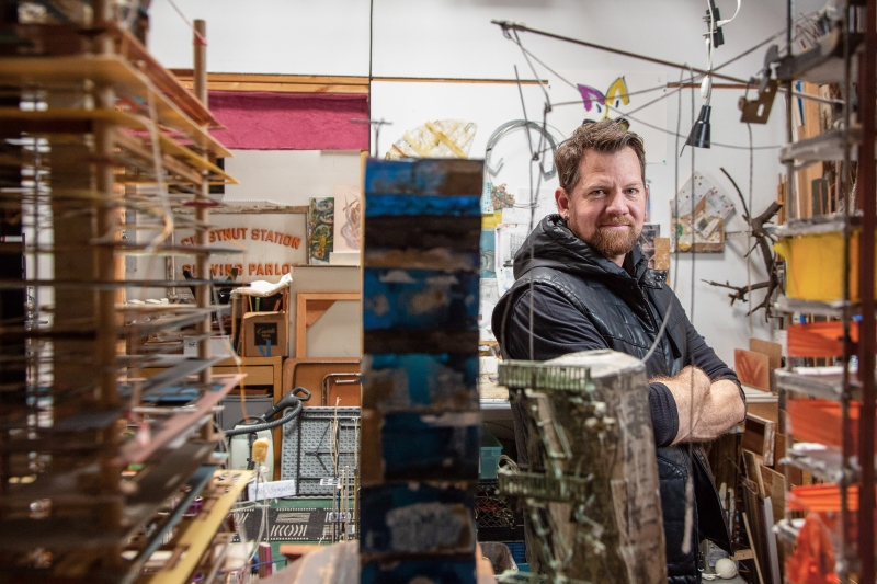 Alameda Artist Jamie Banes Accentuates the Art in Architecture